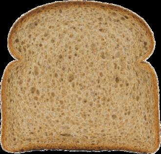 Stone Ground 100% Whole Wheat Bread Slice Image