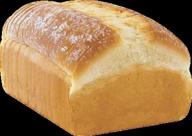 White Naked Bread Loaf Image