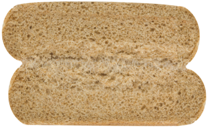 100% Whole Wheat Hot Dog Buns Inside of Buns Image