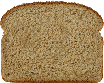 100% Whole Wheat Bread Slice