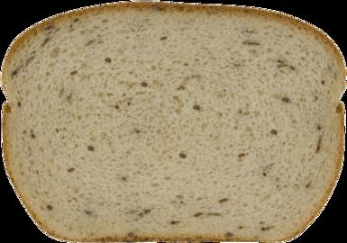 Seeded Jewish Rye Bread Slice Image