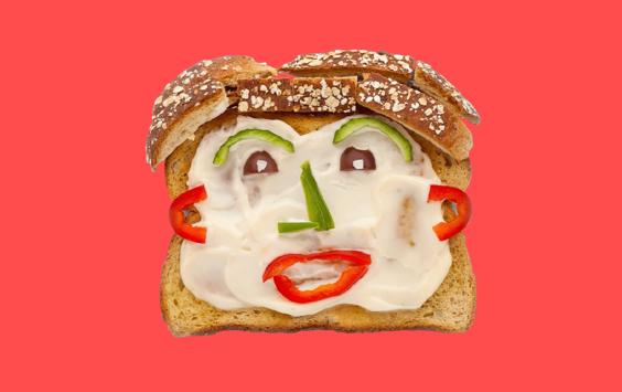 Bread face image