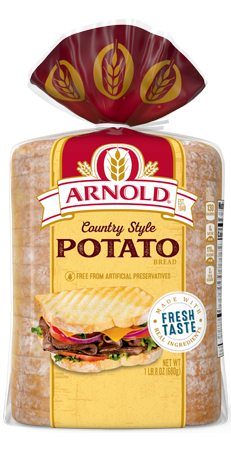 Arnold Country Style Potato Bread 24oz Packaging