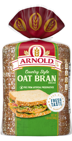Arnold Country Style Oat Bran Bread 24oz Packaging