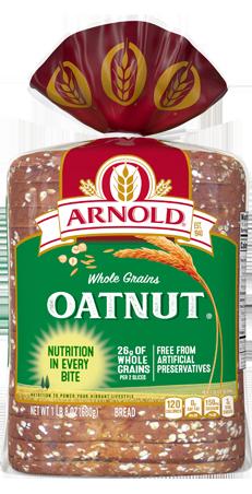 Arnold Oatnut Bread 24oz Packaging