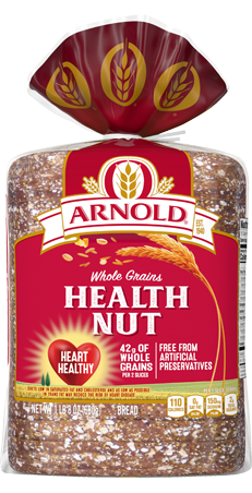 Arnold Health Nut Bread 24oz Packaging