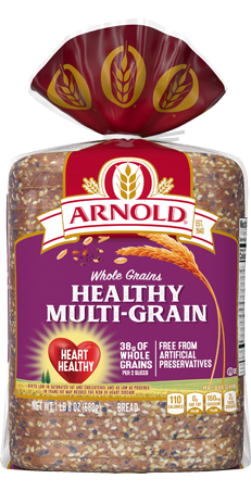 Arnold Healthy Multi-Grain Bread 24oz Packaging