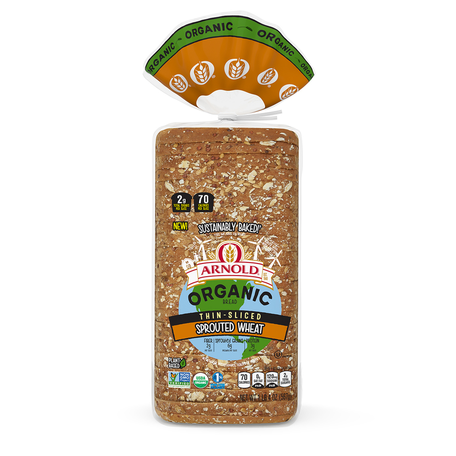 Arnold Thin Sliced Spouted Wheat 18oz