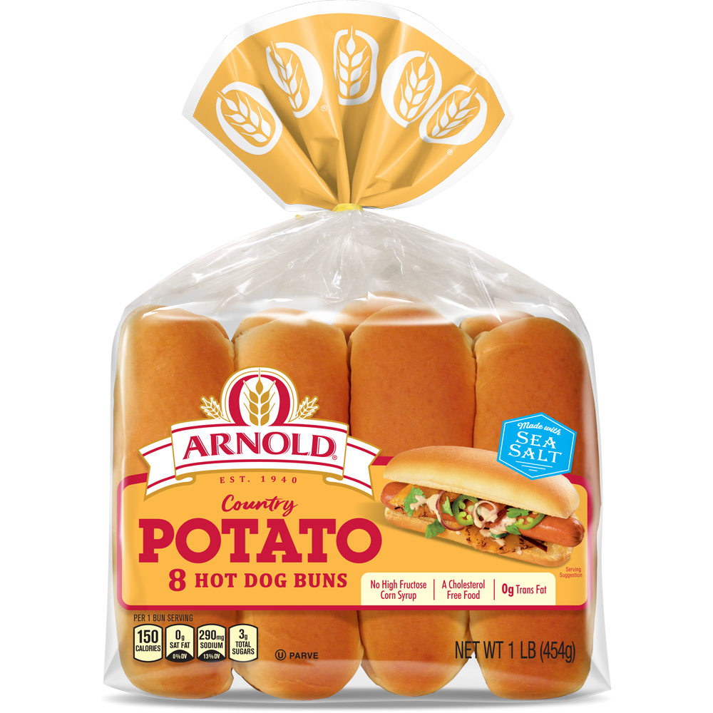 Arnold Potato Hot Dog Buns Package