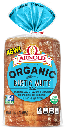 Arnold Organic Rustic White Bread Package Image