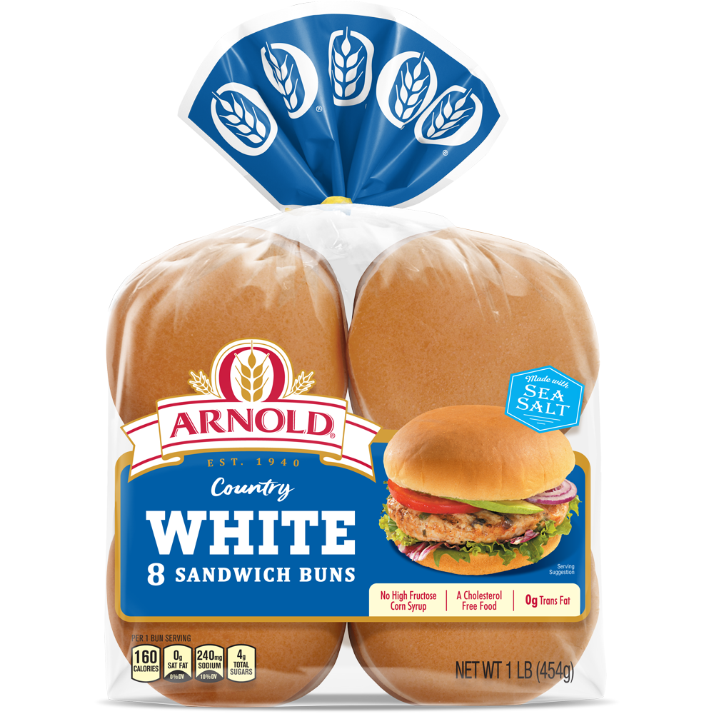 Arnold Country White Sandwich Buns Package Image