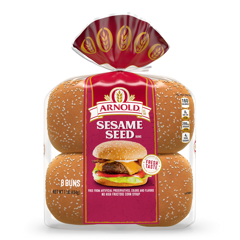Arnold Sesame Seed Sandwich Buns Package