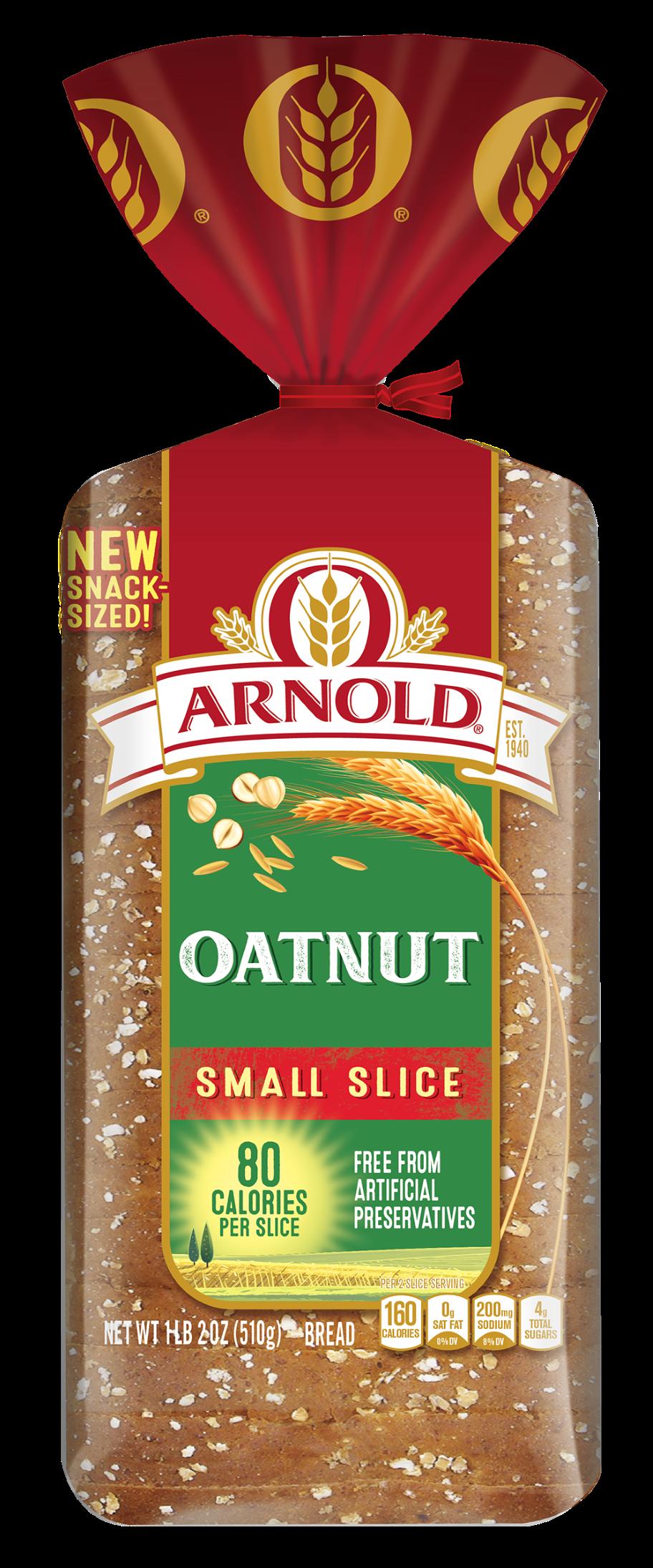 Arnold Small Slice Oatnut 18oz Packaging