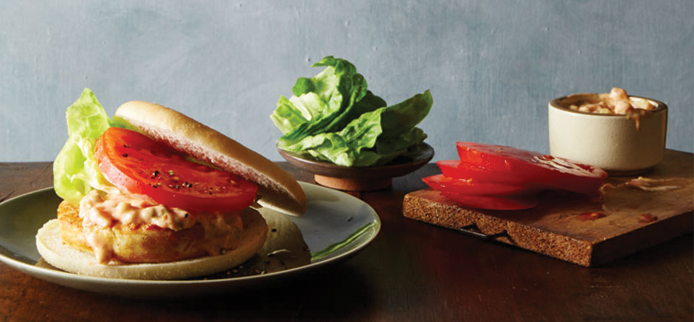 All American Chicken Burger with Secret Spicy Sauce Recipe Image