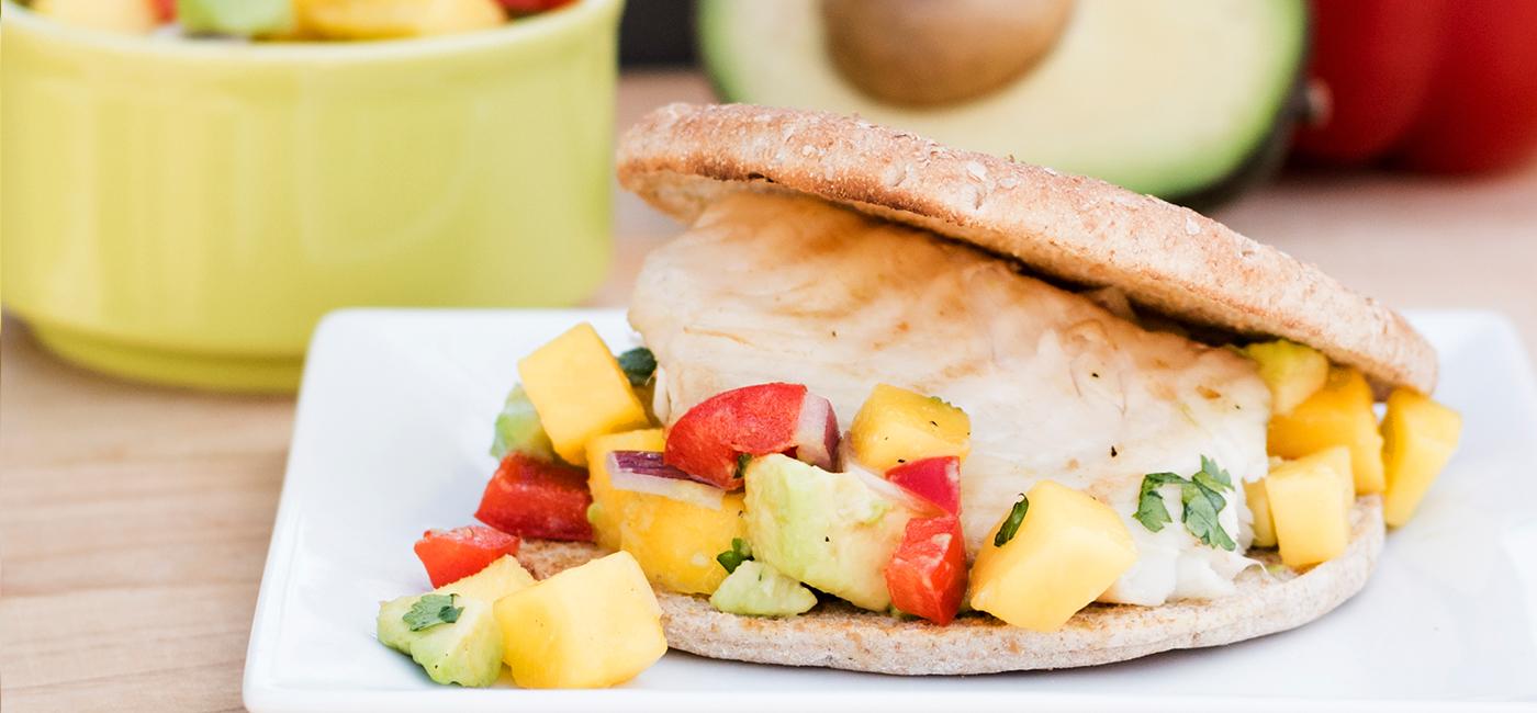 Tilapia Sammie with Mango Salsa Recipe Image
