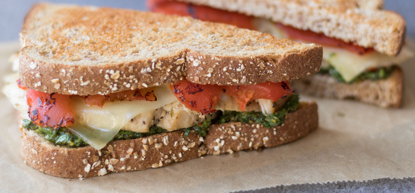 Grilled Chicken Pesto Sandwich Recipe Image