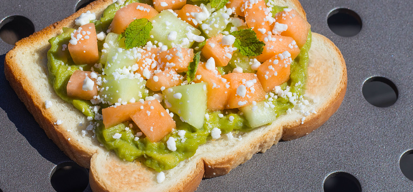 Melon & Avocado Toast Recipe Image