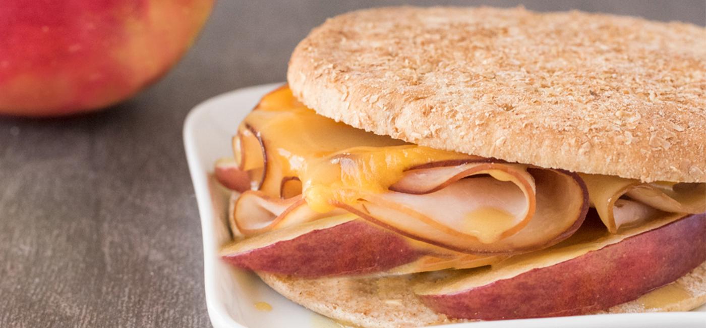 Apple Turkey Cheddar Sandwich Recipe Image