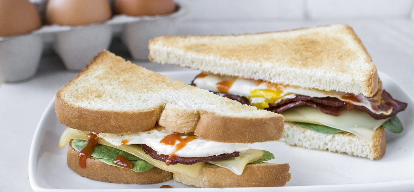 Turkey Bacon Breakfast Sandwich Recipe Image