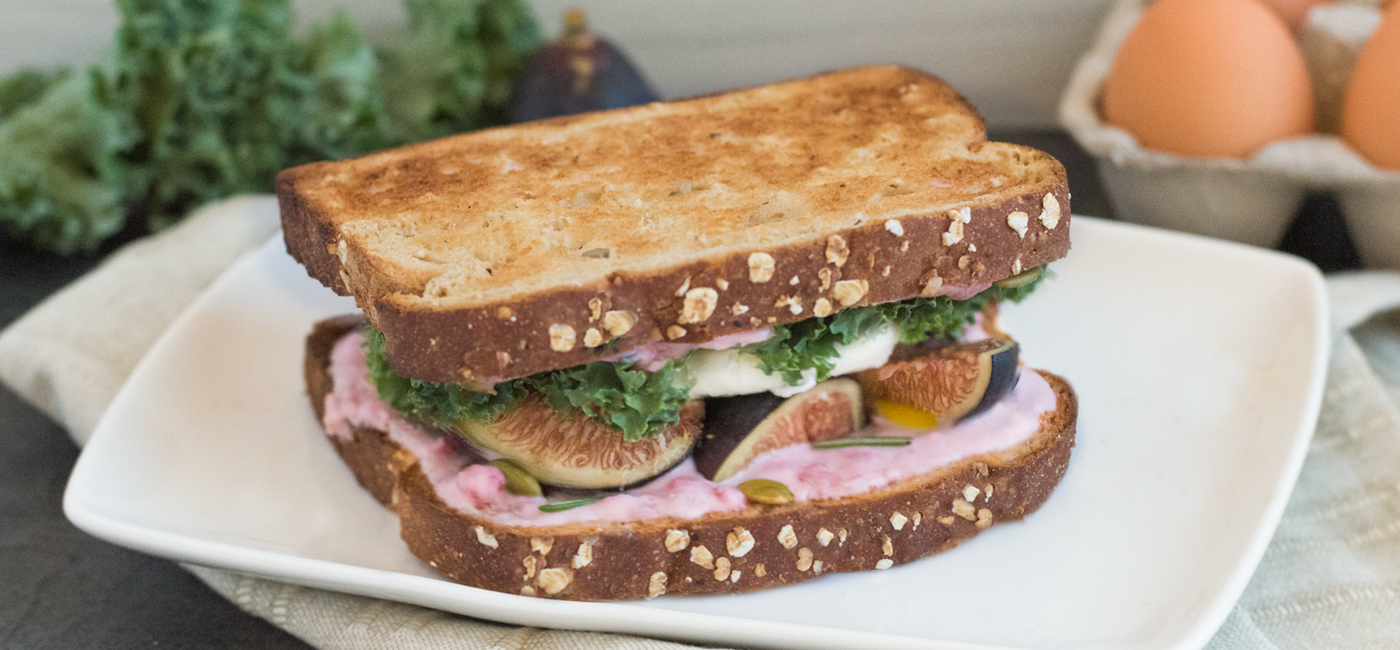 Egg, Fig and Berry Toasted Breakfast Sandwich Recipe Image