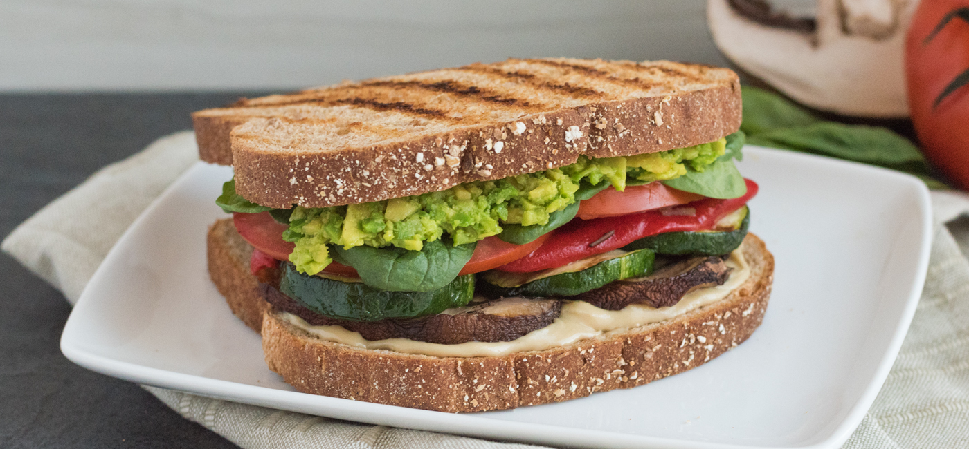 Savory Grilled Vegan Delight Sandwich Recipe Image