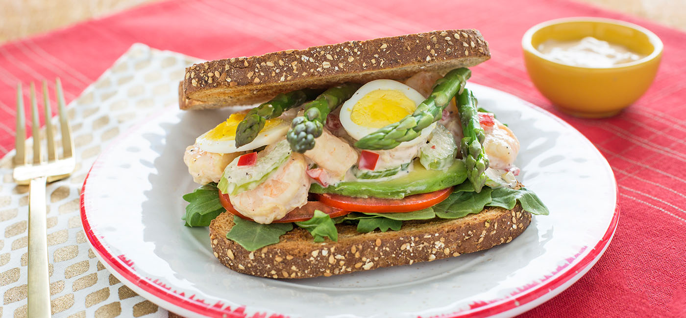 Golden Gate Shrimp Louie Sandwich Recipe Image