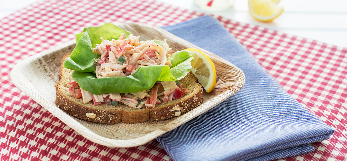 Open Faced Kickin Crabsalad - Recipe Image