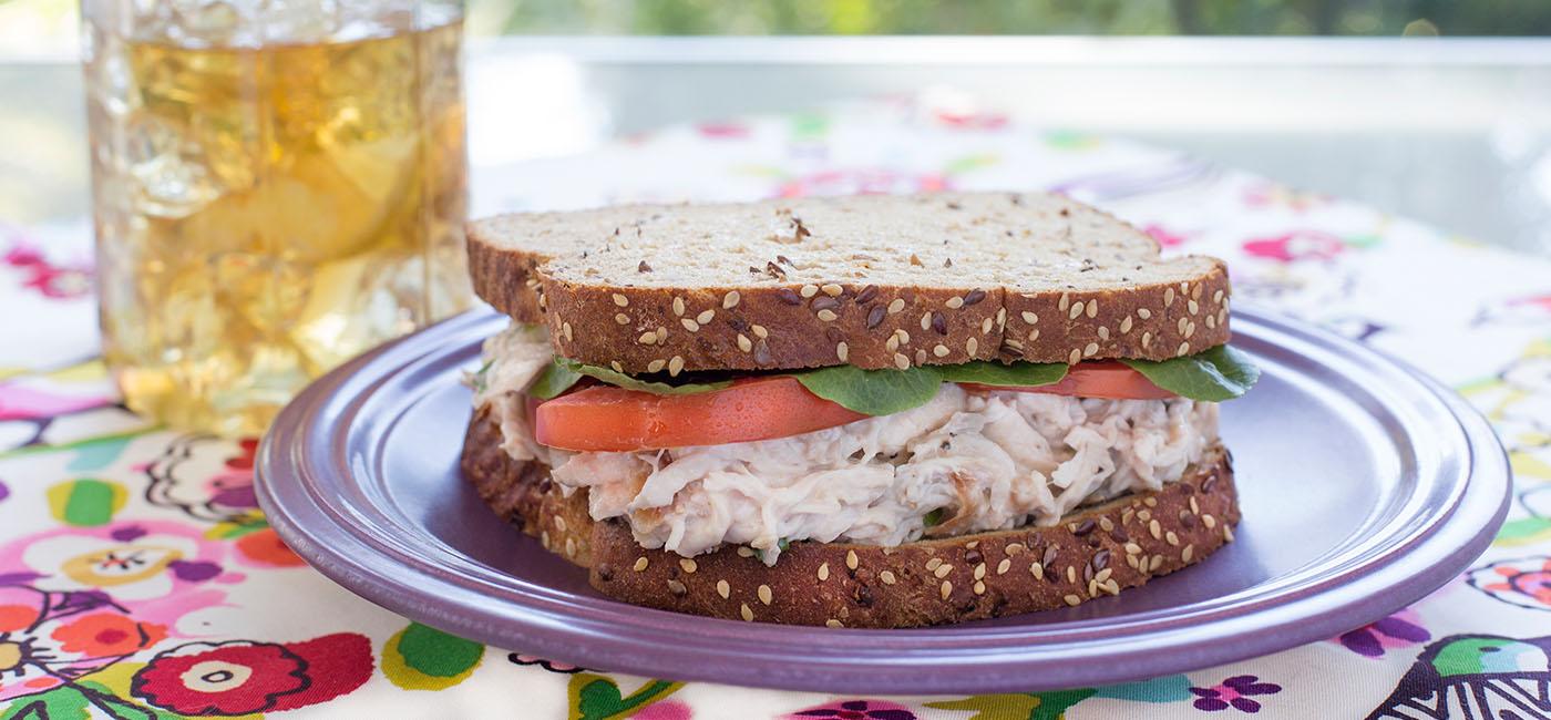 Tropical Chicken Salad Sandwich Recipe Image