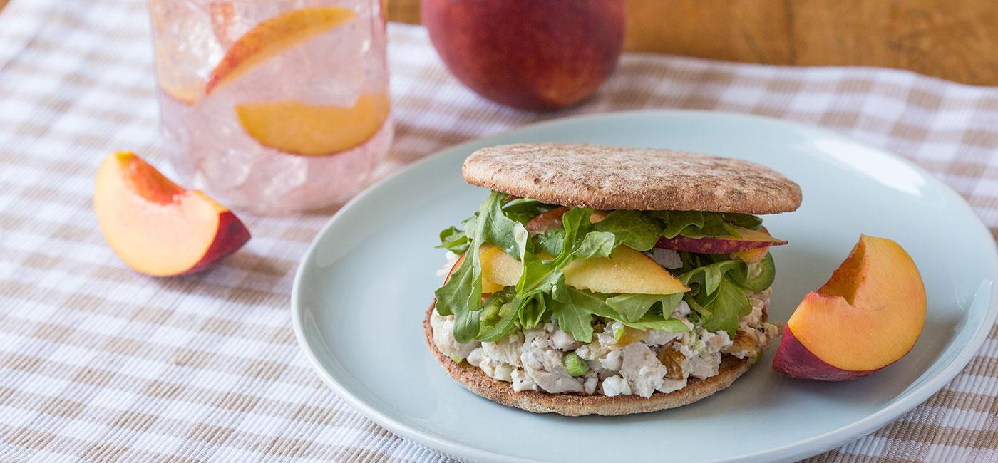 Peach Arugula and Chicken - Recipe Image