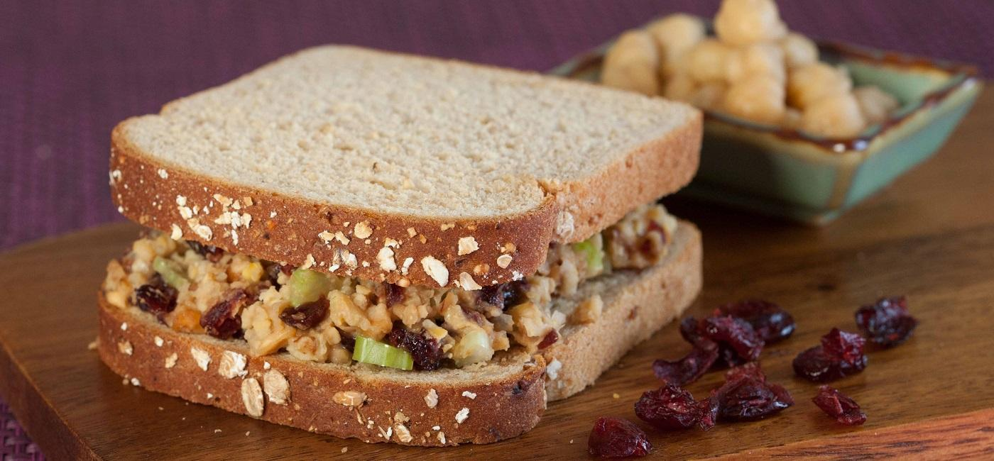 Chickpea Waldorf Salad Sandwich Recipe Image