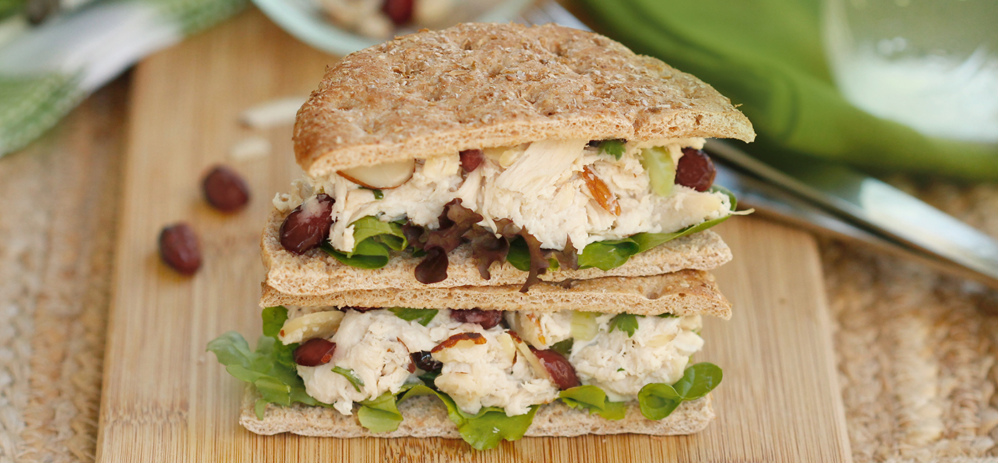 Cranberry Almond Chicken Salad Sammie Recipe Image