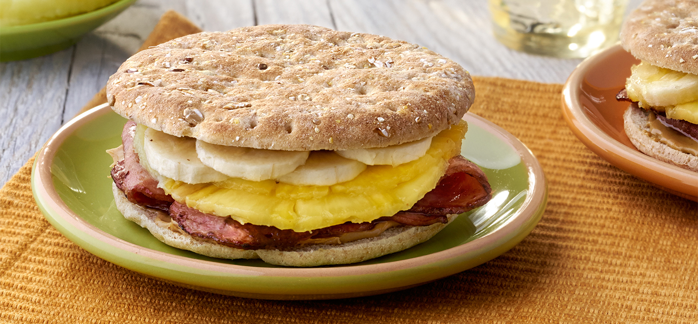 Bacon, Peanut Butter and Pineapple Hawaiian Whammy Sammie Recipe Image