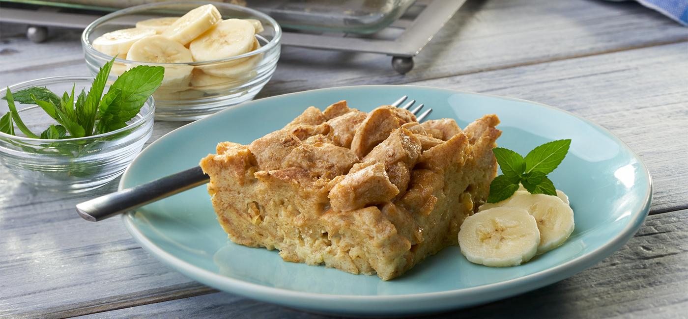 Quick & Easy Banana Bread Pudding Recipe Image