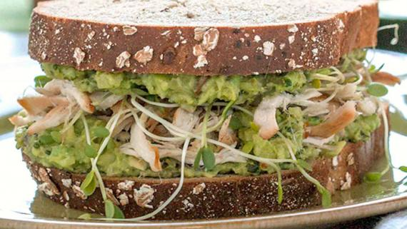 Green Goddess Chicken Sandwich Recipe Image